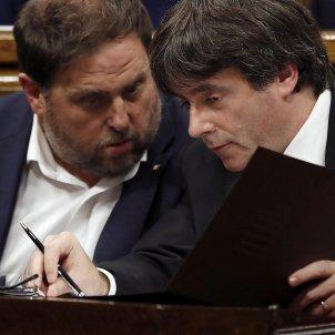 Junqueras Puigdemont Parlament EFE
