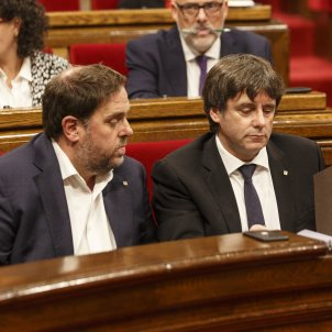 Puigdemont Junqueras DUI document carta parlament - Sergi Alcàzar