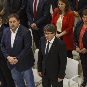 Hemicicle ple DUI Iceta Junqueras Puigdemont - Sergi Alcàzar