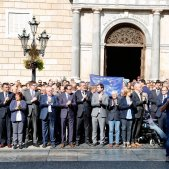 Plaça Sant Jaume protesta empresonament Jordis Sergi Alcàzar
