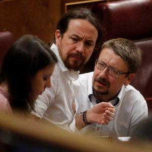Pablo Iglesias i Xavier Domènech al Congrés / EFE