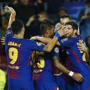 Barça celebració gol Olympiakos   EFE