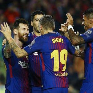 Celebració gol Barça Olympiakos Champions   EFE