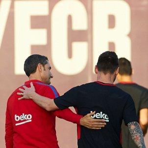 Ernesto Valverde Leo Messi entrenament Barça   EFE