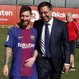 Leo Messi Josep Maria Bartomeu fotografia Barça   FCB