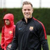 Ter Stegen entrenament Barça   FCB