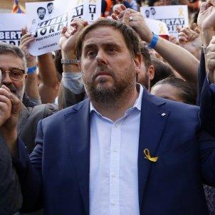 Junqueras Puigdemont Forcadell mani Jordis ACN