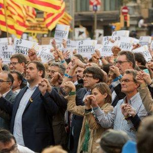 manifestacio alliberament Jordis  i contra el  155 puigdemont forcadell junqueras mas foto laura gomez07