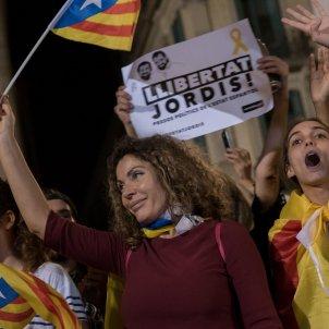 manifestacio alliberament Jordis  i contra el  155 puigdemont sant jaume foto laura gomez13