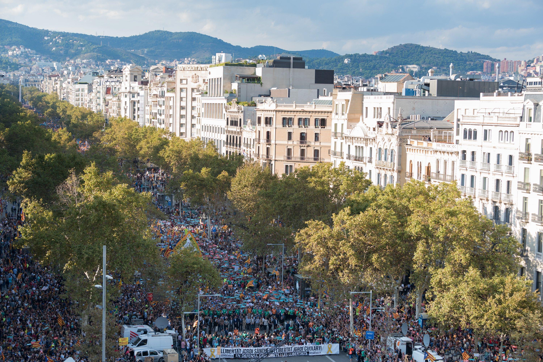 manifestacio alliberament Jordis  i contra el  155 foto laura gomez05