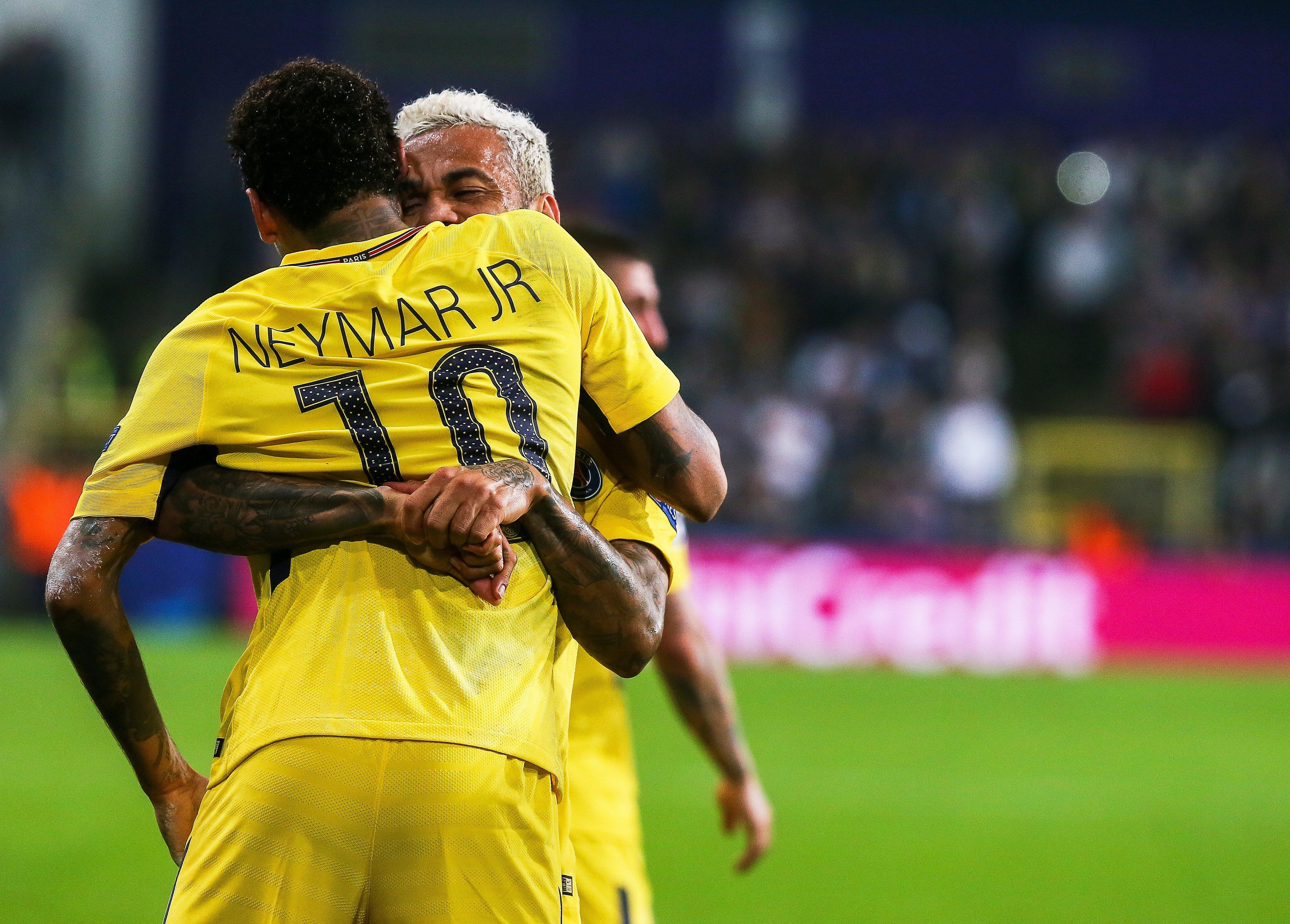 Neymar PSG Dani Alves Champions Anderlecht   EFE