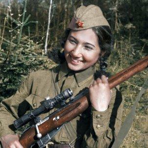 Ziva Ganieva franctiradores sovietiques foto pasado&presente