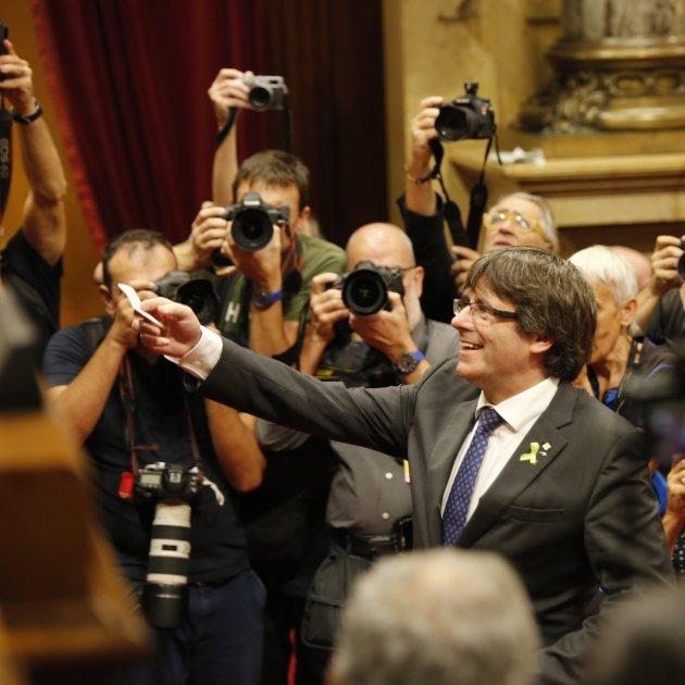 puigdemont vot independencia parlament dui - sergi alcazar