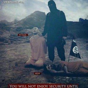 Neymar Messi Daesh   site intel group