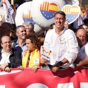Iceta, Albiol, Montserrat, Levy manifestació unionista 29 O Roberto Lázaro