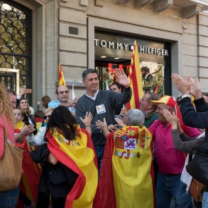 Manifestació societat civil catalana %22 tots som Catalunya%22 albiol laura gómez