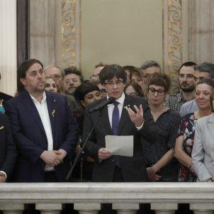 Puigdemont Junqueras Forcadell després DI EFE