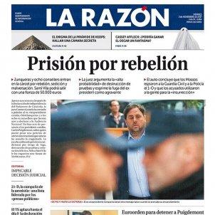 Portada La Razón 3N