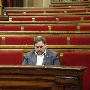 Junqueras sol al Hemicicle del Parlament - Sergi Alcàzar