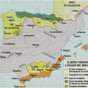 Hispania visigoda. Font Wikimedia commons