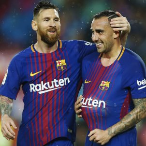 Paco Alcacer Leo Messi Barça Sevilla   EFE