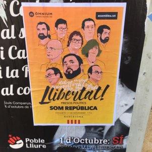 Cartell llibertat presos polítics - David González