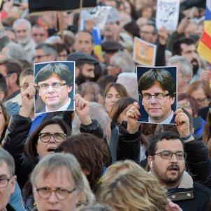 manifestació presos politics puigdemont laura gomez