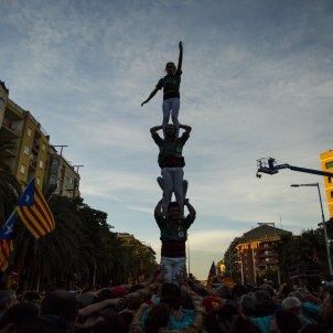 Diada per la llibertat Marina castellers pilar - Sergi Alcàzar
