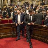 Puigdemont Junqueras Parlament - Sergi Alcàzar