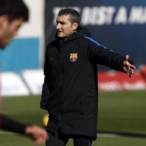 Ernesto Valverde entrenament Barça   FCB