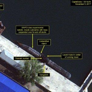submari corea del nord 38north digital globe
