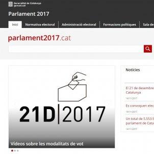 web institucional eleccions 2017