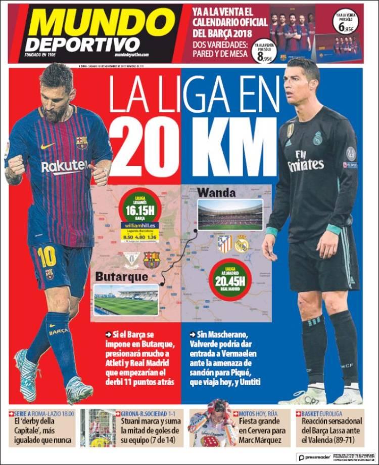 Mundo Deportivo Portada 18 11 2017