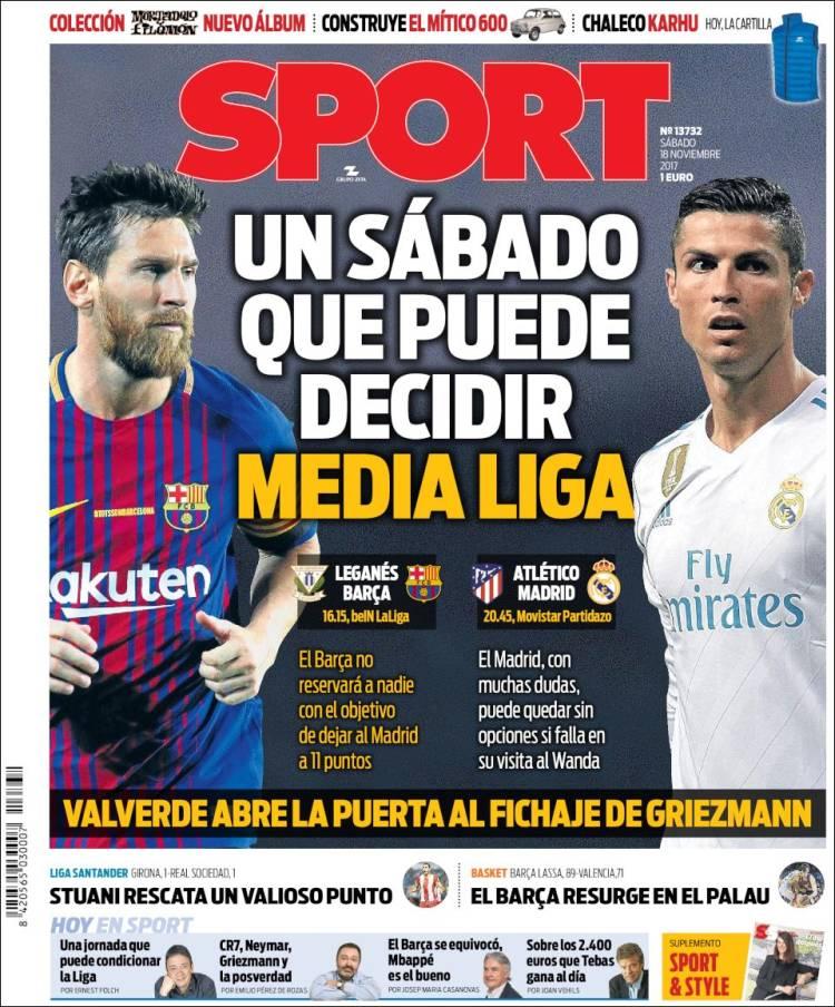 Sport Portada 18 11 2017