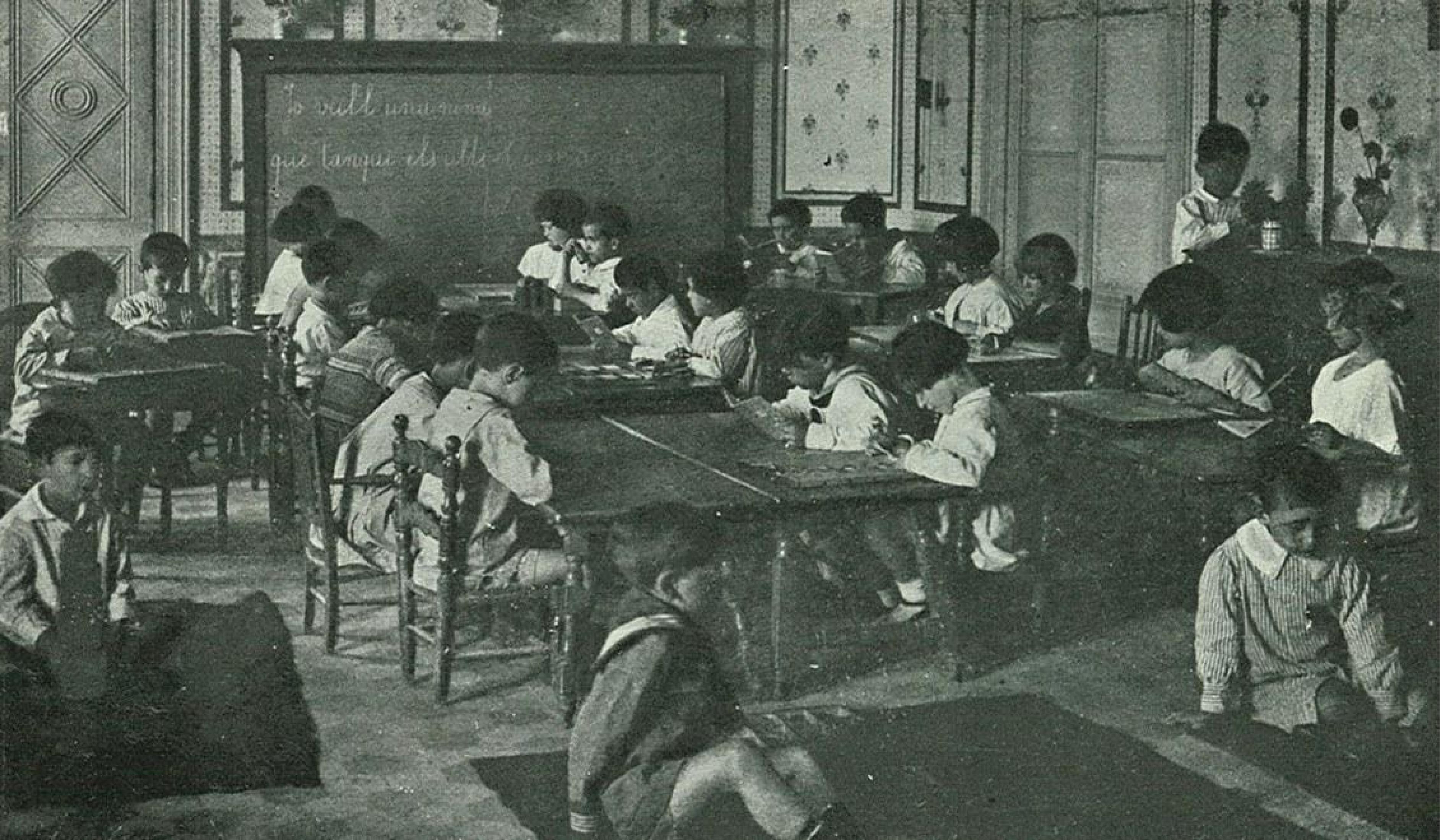 Escola Primària de la Mancomunitat. Font Xarxanet