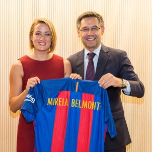 Mireia Belmonte Josep Maria Bartomeu Barça FC Barcelona