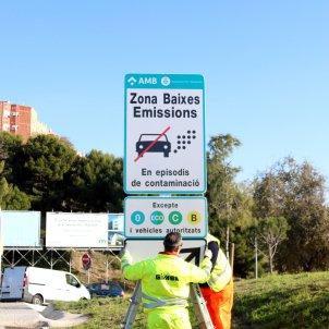 Cotxe contaminació Barcelona / ACN