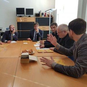 reunió d'omnium amb Puigdemont