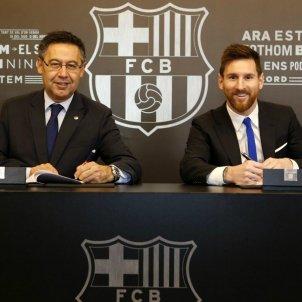 Messi Bartomeu renovació 2021 FC Barcelona