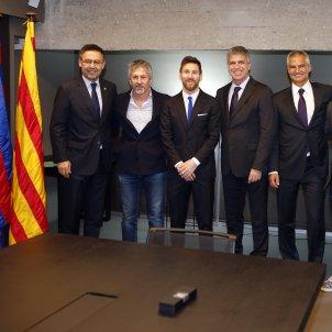 Leo Messi renovació Barça Josep Maria Bartomeu Jorge Messi Javier Bordas Òscar Grau Jordi Mestre Matías Messi FC Barcelona