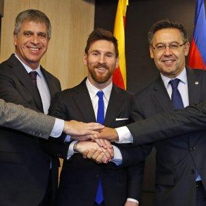 Leo Messi renovació Barça Josep Maria Bartomeu Pep Segura Jordi Mestre Javier Bordas FC Barcelona