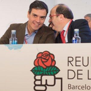 Pedro Sánchez i Iceta efe
