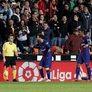 Barça Valencia protestes gol   EFE