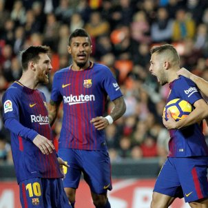 Leo Messi Paulinho València Barça Efe