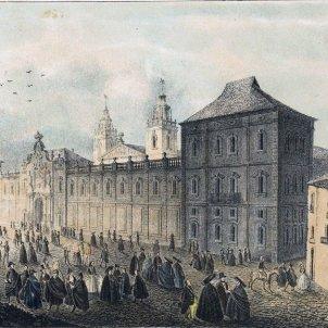 Gravat de la Universitat de Cervera. Finals del segle XVIII. Font Arxiu d'El Nacional