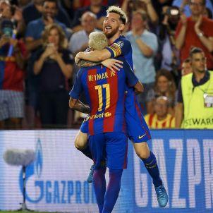 Messi Neymar Barça  gol Celtic EFE