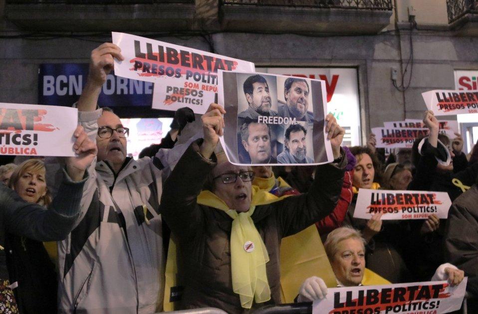 concentració sant jaume presos politics desembre - ACN
