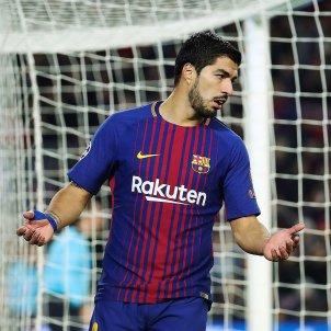 Luis Suarez gol Barça Sporting Champions   EFE