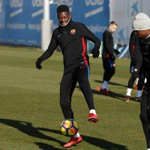 Dembele entrenament Barça   FCB