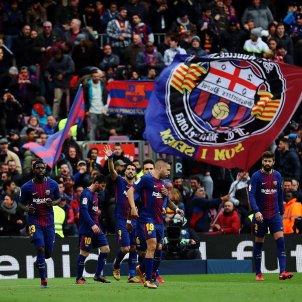 Barça celebració gol Celta Lliga   EFE